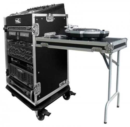 11U Slant Rack with 16U vertical and table