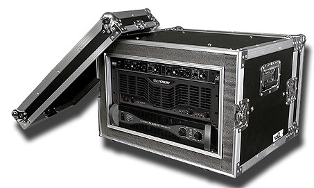 6U shockmount amp rack case